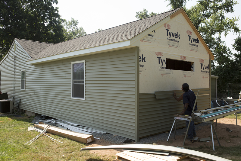 Putting Siding On New Master Bedroom Electrical Panel For Addition To The House